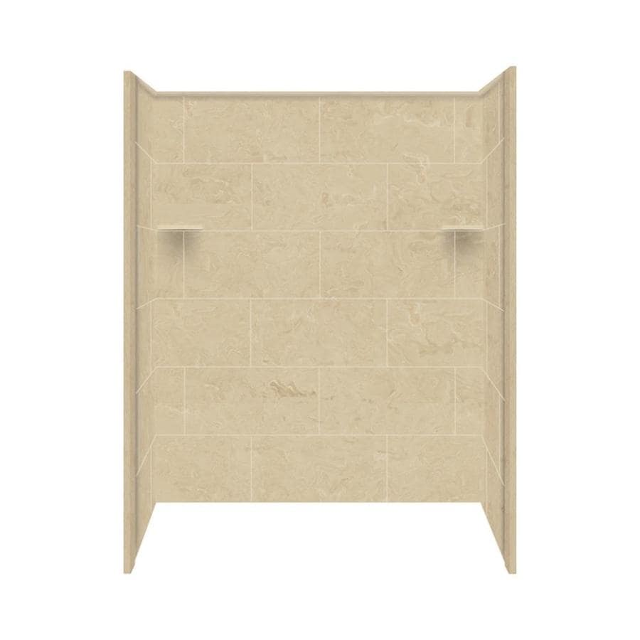 Style Selections Almond Sky Shower Wall Surround Side And Back Wall Kit (Common: 36-in x 60-in; Actual: 72-in x 36-in x 60-in)