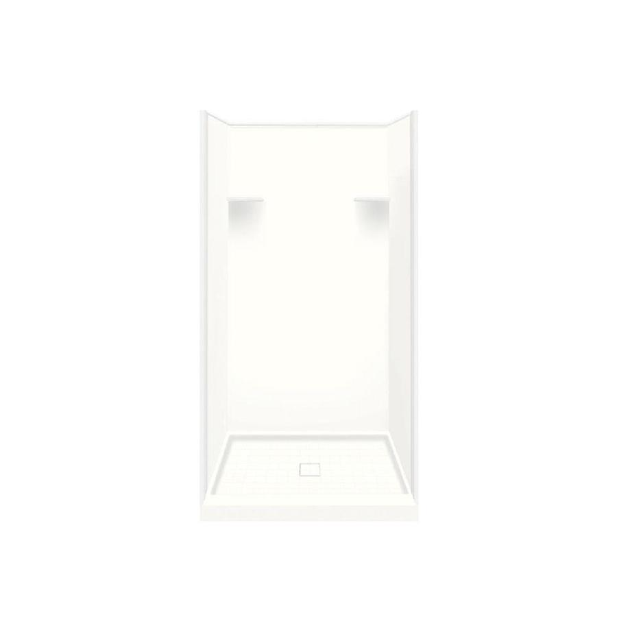 Style Selections White Solid Surface Wall and Floor 4-Piece Alcove Shower Kit (Common: 36-in x 36-in; Actual: 75-in x 36-in x 36-in)