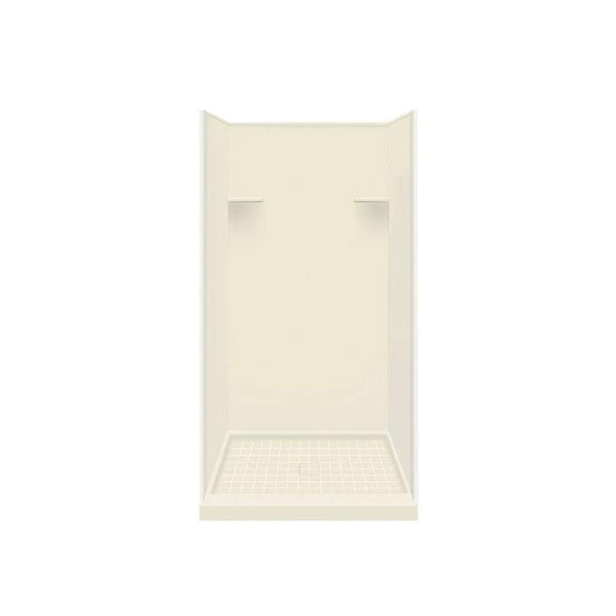 Style Selections Biscuit 4-Piece Alcove Shower Kit (Common: 36-in x 36-in; Actual: 36-in x 36-in)