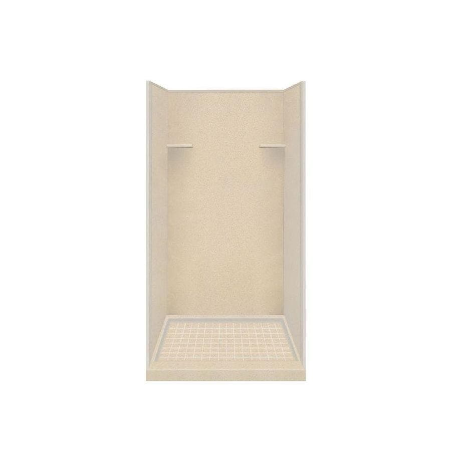 Style Selections Matrix Khaki Solid Surface Wall and Floor 4-Piece Alcove Shower Kit (Common: 36-in x 36-in; Actual: 75-in x 36-in x 36-in)