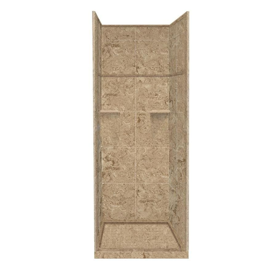Style Selections Sand Mountain 5-Piece Alcove Shower Kit (Common: 36-in x 36-in; Actual: 99-in x 36-in x 36-in)