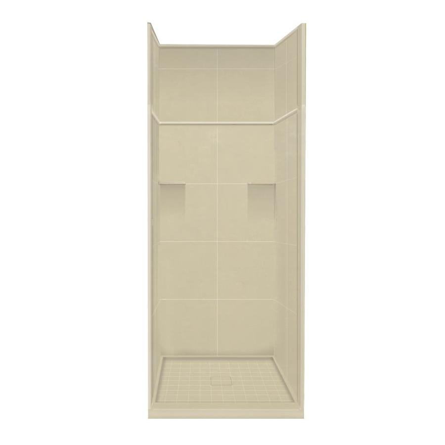 Style Selections Almond Sky 5-Piece Alcove Shower Kit (Common: 36-in x 36-in; Actual: 36-in x 36-in)