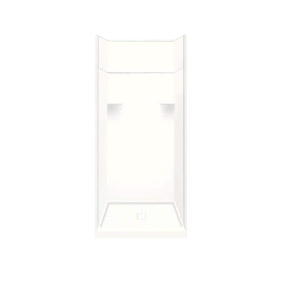Style Selections White 5-Piece Alcove Shower Kit (Common: 36-in x 36-in; Actual: 36-in x 36-in)