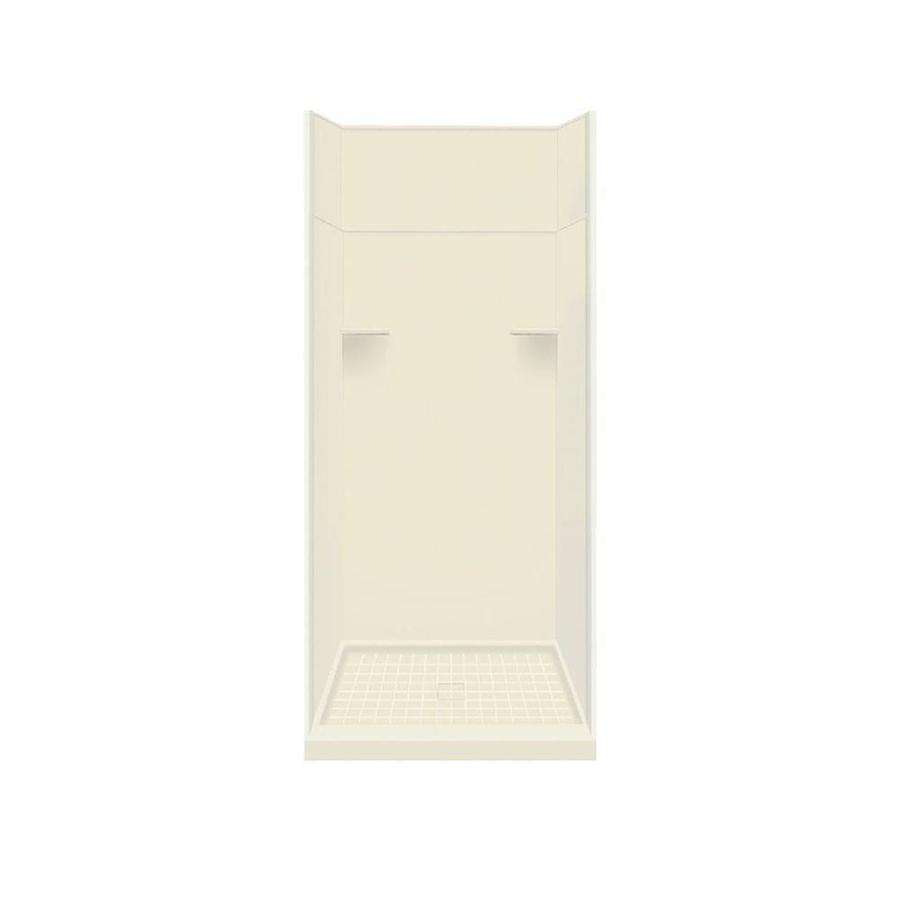 Style Selections Biscuit Solid Surface Wall and Floor 5-Piece Alcove Shower Kit (Common: 36-in x 36-in; Actual: 99-in x 36-in x 36-in)