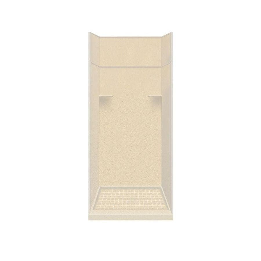 Style Selections Sea Shore Solid Surface Wall and Floor 5-Piece Alcove Shower Kit (Common: 36-in x 36-in; Actual: 99-in x 36-in x 36-in)
