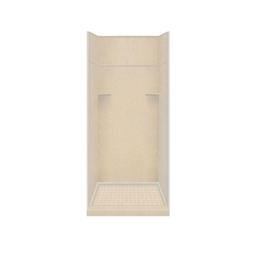 Style Selections Matrix Khaki 5-Piece Alcove Shower Kit (Common: 36-in x 36-in; Actual: 36-in x 36-in)