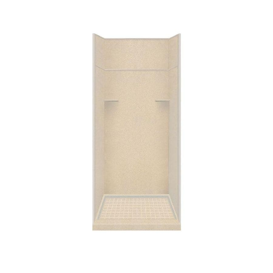 Style Selections Matrix Khaki Solid Surface Wall and Floor 5-Piece Alcove Shower Kit (Common: 36-in x 36-in; Actual: 99-in x 36-in x 36-in)