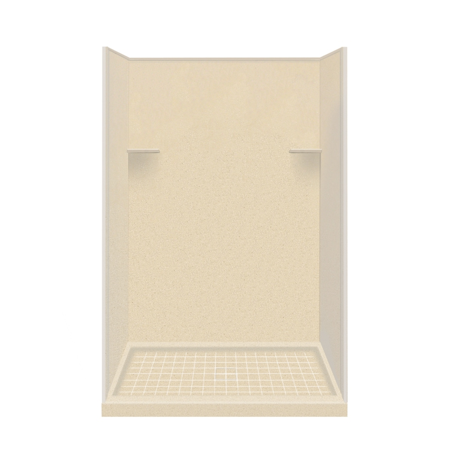 Style Selections Sea Shore Solid Surface Wall and Floor 4-Piece Alcove Shower Kit (Common: 34-in x 48-in; Actual: 75-in x 34-in x 48-in)