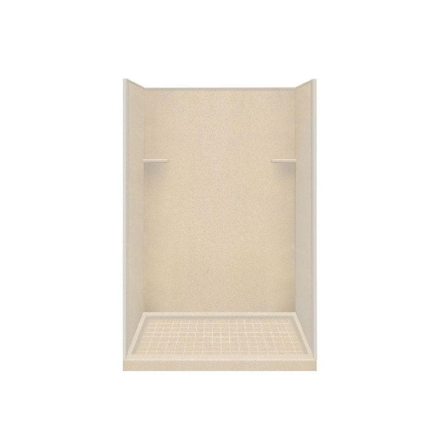 Style Selections Matrix Khaki Solid Surface Wall and Floor 4-Piece Alcove Shower Kit (Common: 34-in x 48-in; Actual: 75-in x 34-in x 48-in)