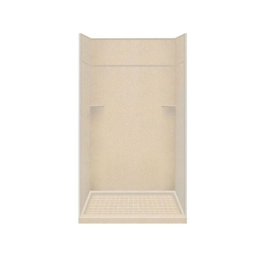 Style Selections Matrix Khaki Solid Surface Wall and Floor 5-Piece Alcove Shower Kit (Common: 34-in x 48-in; Actual: 99-in x 34-in x 48-in)