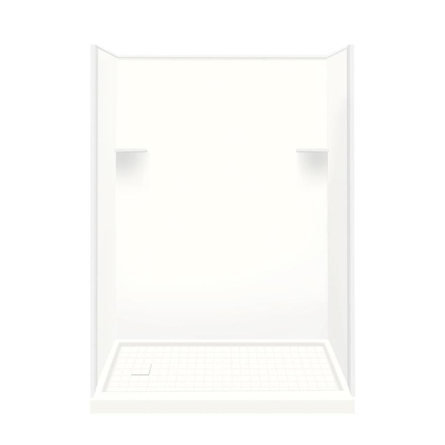 Style Selections White 4-Piece Alcove Shower Kit (Common: 30-in x 60-in; Actual: 30-in x 60-in)