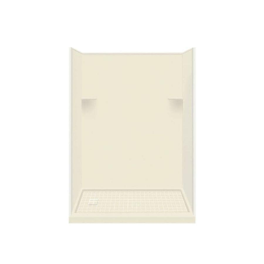 Style Selections Biscuit 4-Piece Alcove Shower Kit (Common: 30-in x 60-in; Actual: 30-in x 60-in)