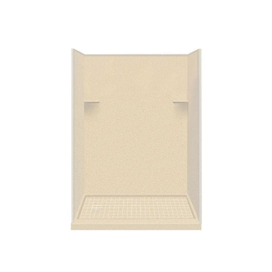 Style Selections Sea Shore Solid Surface Wall and Floor 4-Piece Alcove Shower Kit (Common: 30-in x 60-in; Actual: 75-in x 30-in x 60-in)