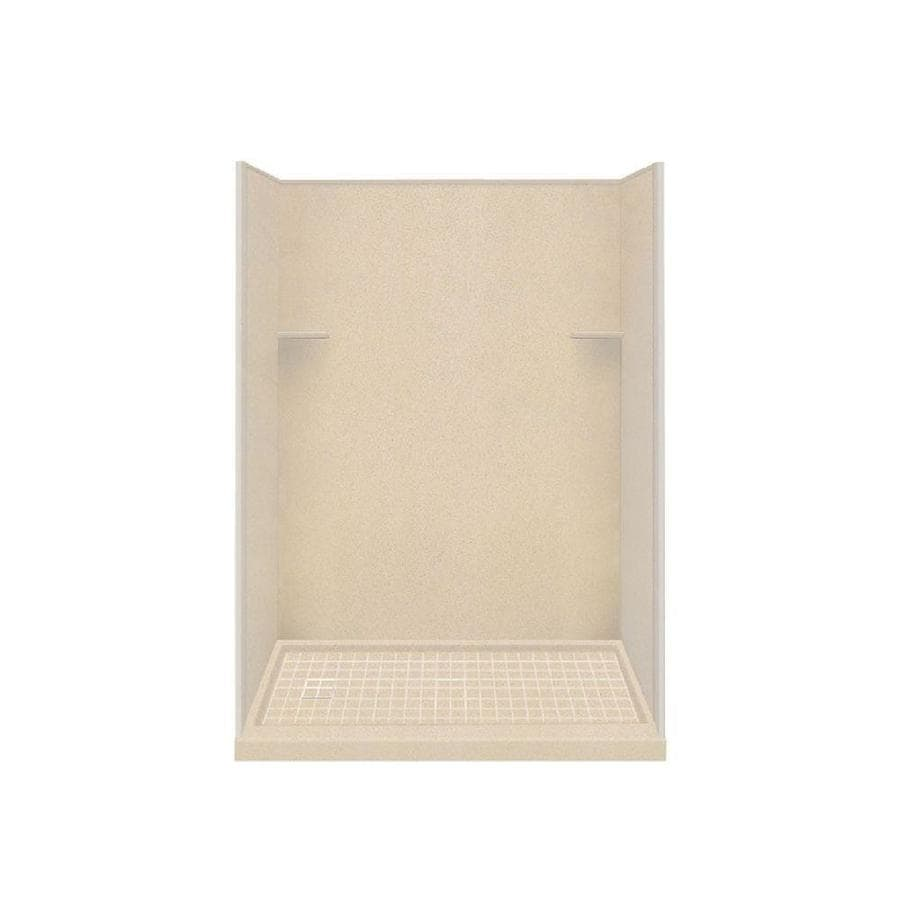 Style Selections Matrix Khaki Solid Surface Wall and Floor 4-Piece Alcove Shower Kit (Common: 30-in x 60-in; Actual: 75-in x 30-in x 60-in)