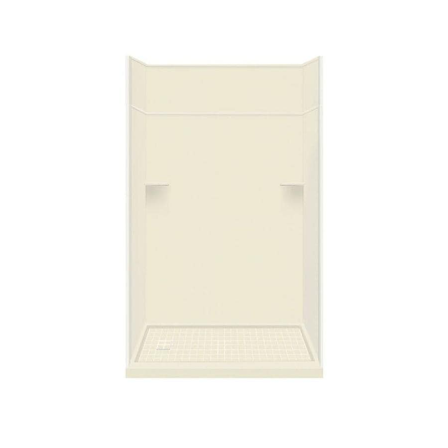 Style Selections Biscuit Solid Surface Wall and Floor 5-Piece Alcove Shower Kit (Common: 30-in x 60-in; Actual: 99-in x 30-in x 60-in)