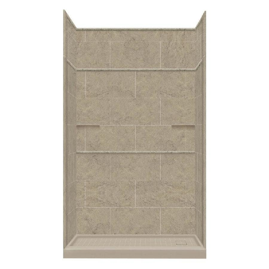 Style Selections Sand Mountain 5-Piece Alcove Shower Kit (Common: 30-in x 60-in; Actual: 30-in x 60-in)