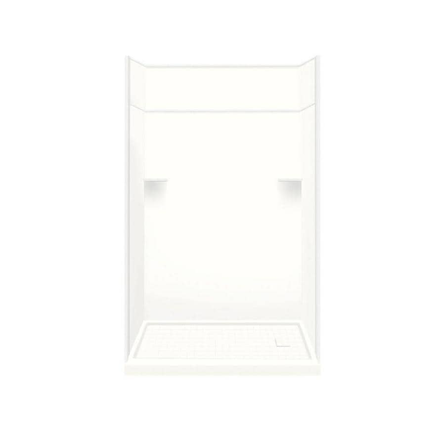 Style Selections White 5-Piece Alcove Shower Kit (Common: 30-in x 60-in; Actual: 30-in x 60-in)