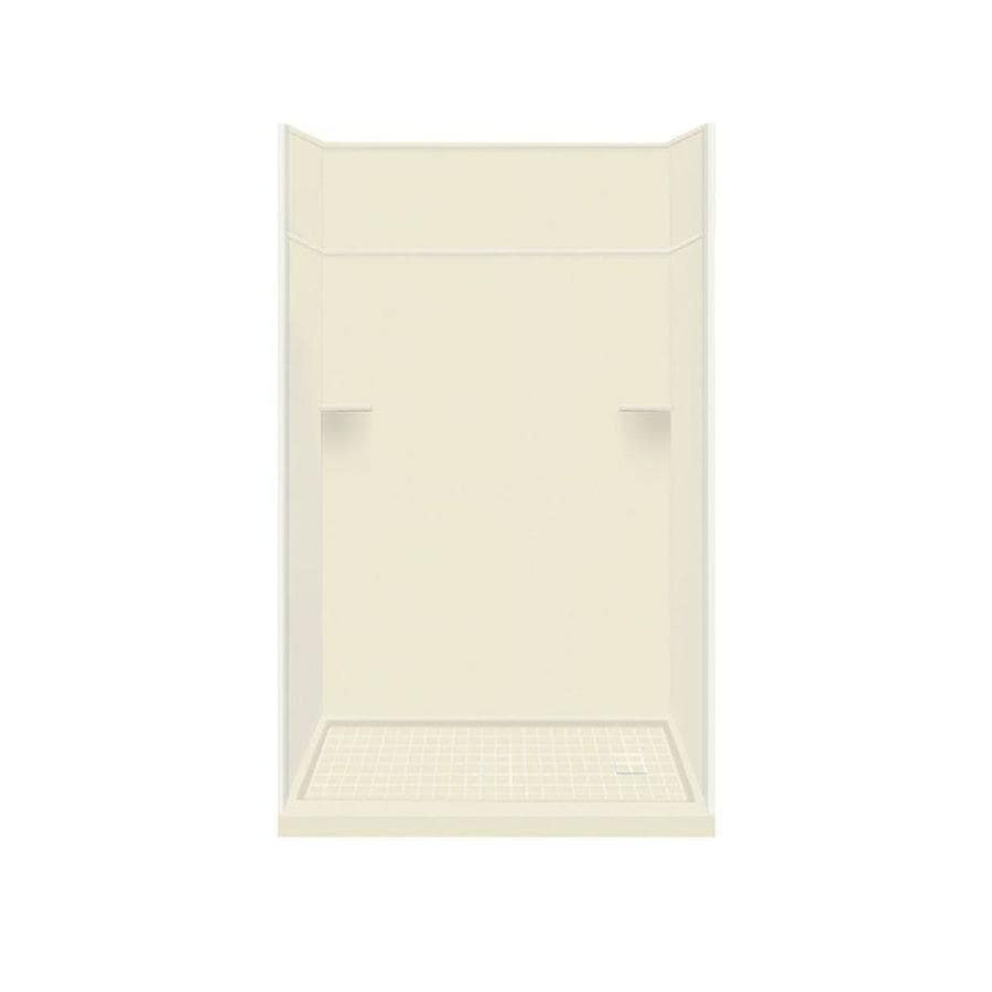 Style Selections Biscuit 5-Piece Alcove Shower Kit (Common: 30-in x 60-in; Actual: 30-in x 60-in)