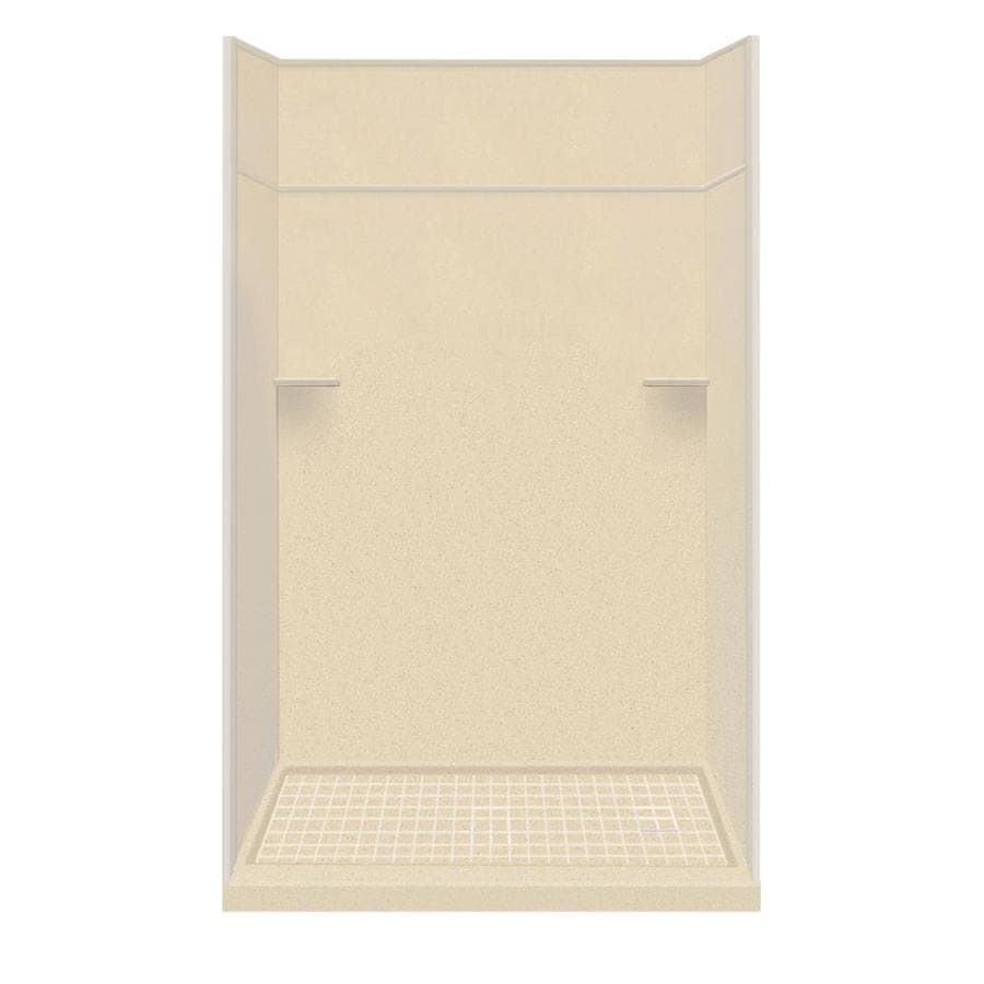 Style Selections Sea Shore Solid Surface Wall and Floor 5-Piece Alcove Shower Kit (Common: 30-in x 60-in; Actual: 99-in x 30-in x 60-in)