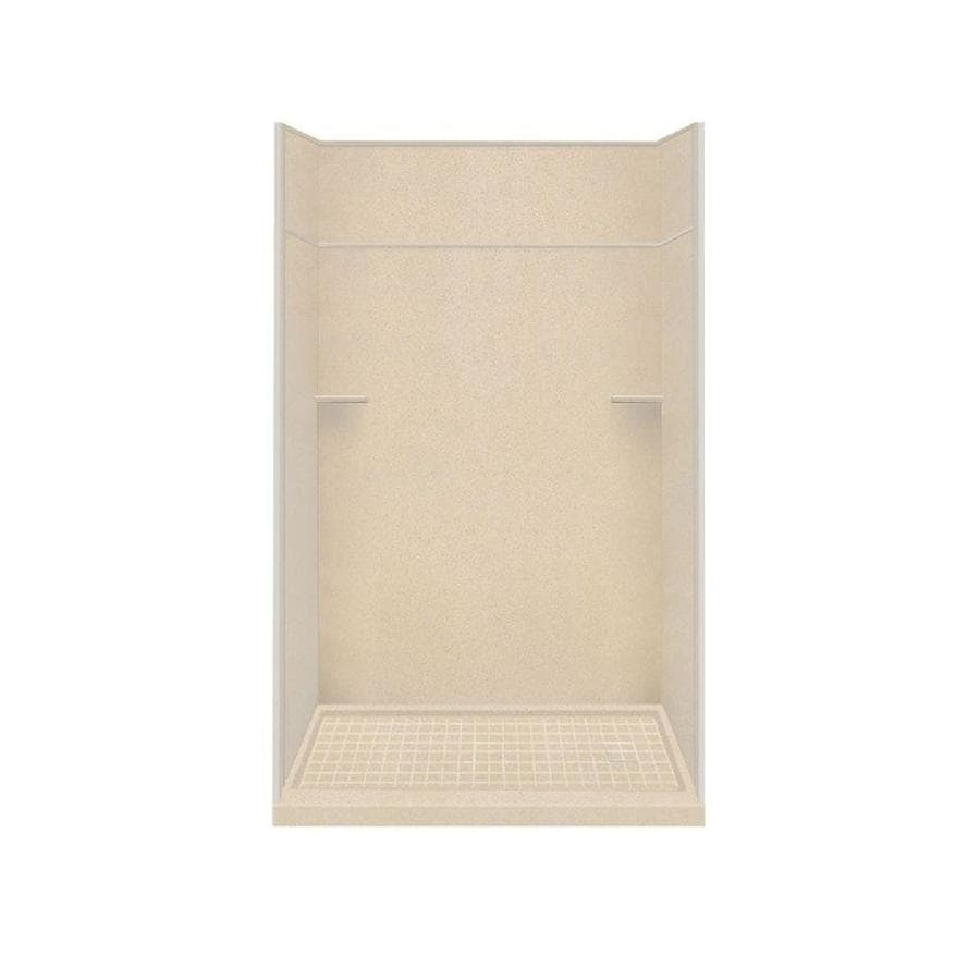 Style Selections Matrix Khaki Solid Surface Wall and Floor 5-Piece Alcove Shower Kit (Common: 30-in x 60-in; Actual: 99-in x 30-in x 60-in)