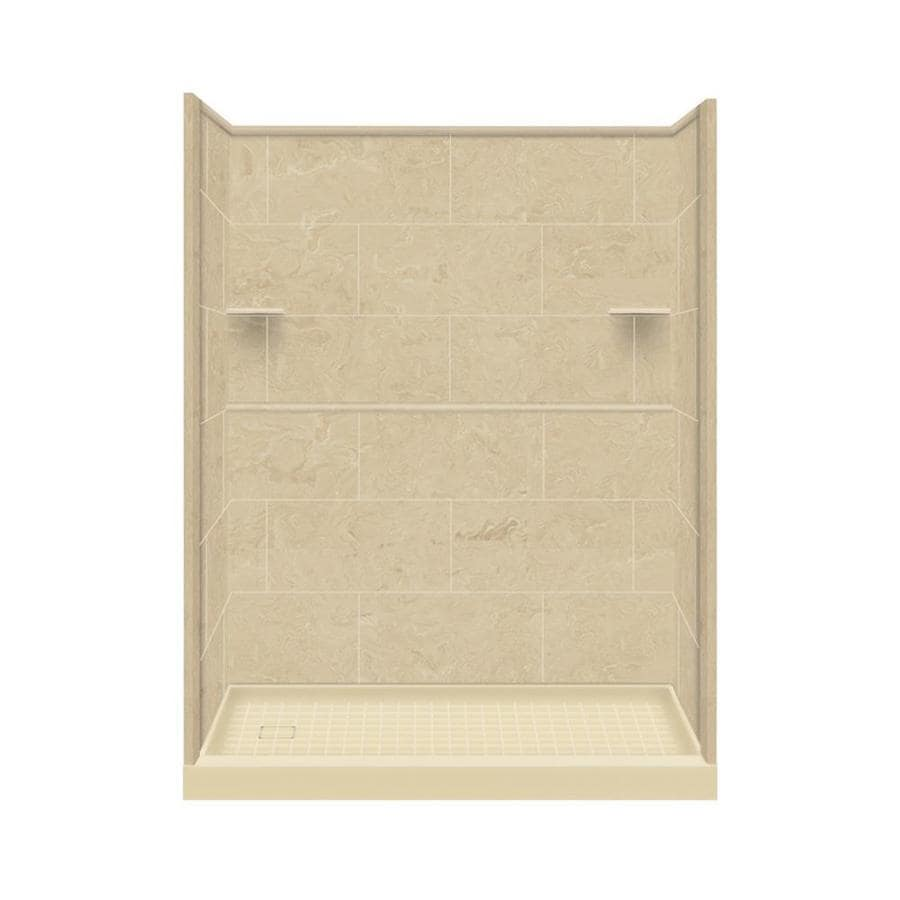 Style Selections Almond Sky 4-Piece Alcove Shower Kit (Common: 32-in x 60-in; Actual: 32-in x 60-in)