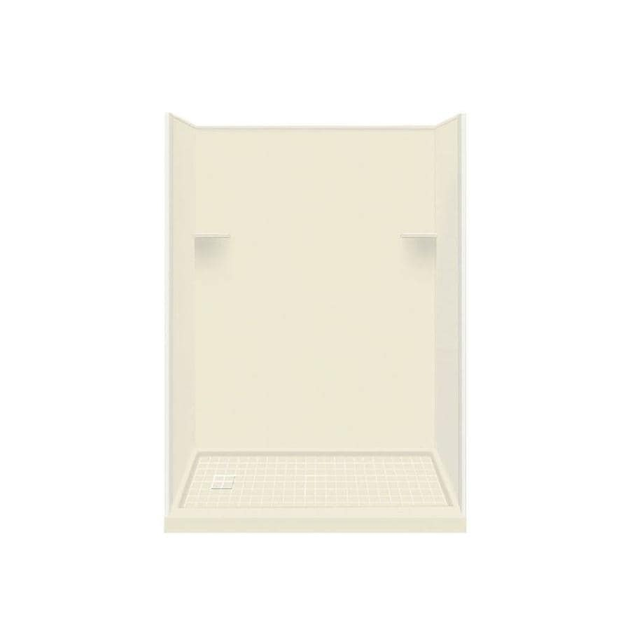 Style Selections Biscuit 4-Piece Alcove Shower Kit (Common: 32-in x 60-in; Actual: 32-in x 60-in)