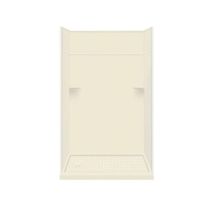 Style Selections Biscuit Solid Surface Wall and Floor 5-Piece Alcove Shower Kit (Common: 32-in x 60-in; Actual: 99-in x 32-in x 60-in)