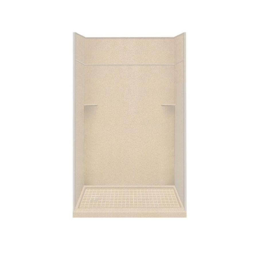 Style Selections Matrix Khaki Solid Surface Wall and Floor 5-Piece Alcove Shower Kit (Common: 32-in x 60-in; Actual: 99-in x 32-in x 60-in)