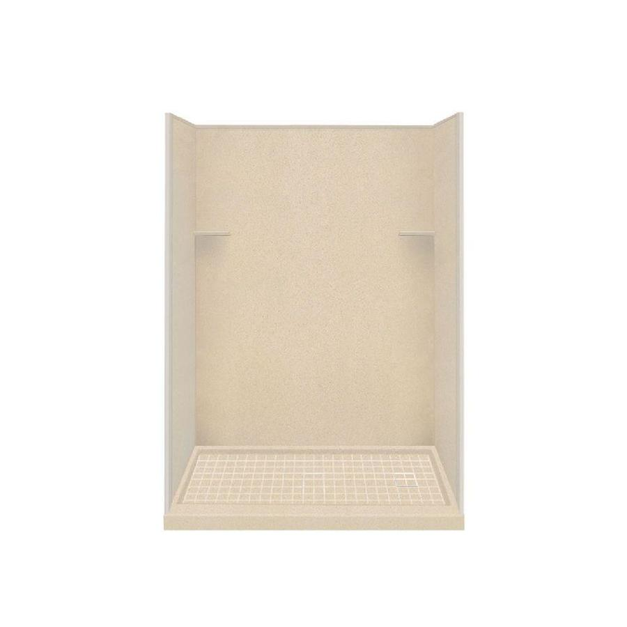 Style Selections Matrix Khaki Solid Surface Wall and Floor 4-Piece Alcove Shower Kit (Common: 32-in x 60-in; Actual: 75-in x 32-in x 60-in)