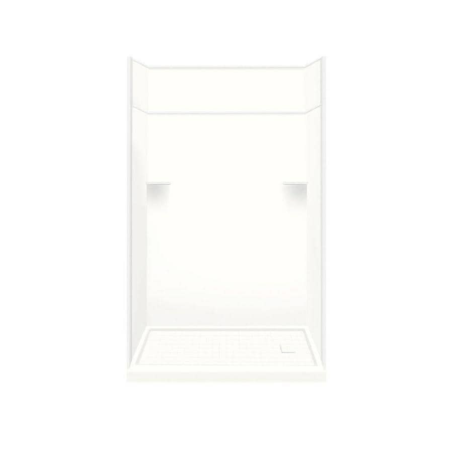 Style Selections White Solid Surface Wall and Floor 5-Piece Alcove Shower Kit (Common: 32-in x 60-in; Actual: 99-in x 32-in x 60-in)