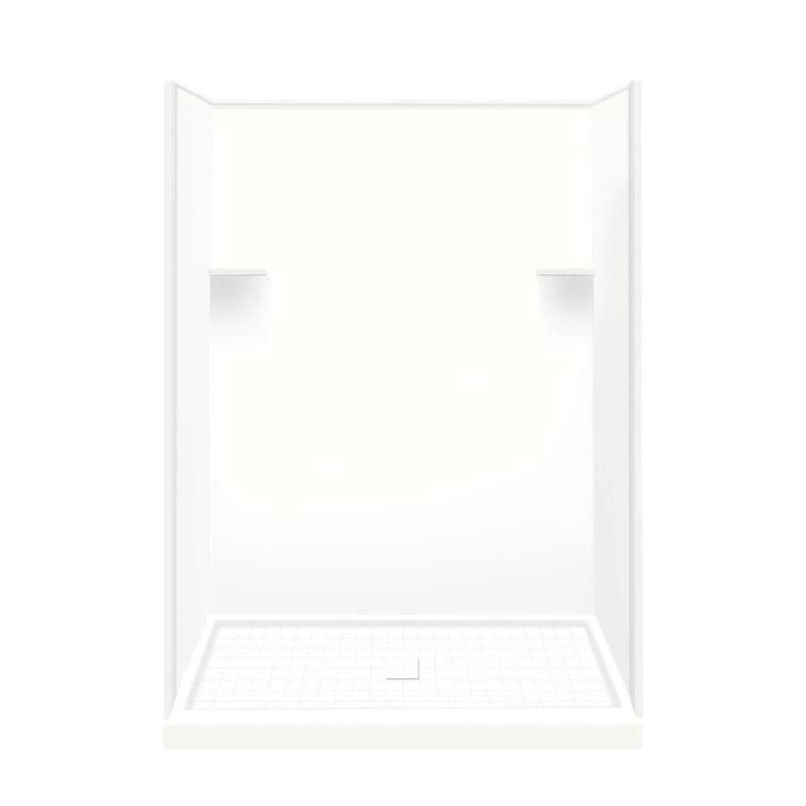 Style Selections White Solid Surface Wall and Floor 4-Piece Alcove Shower Kit (Common: 36-in x 60-in; Actual: 75-in x 36-in x 60-in)