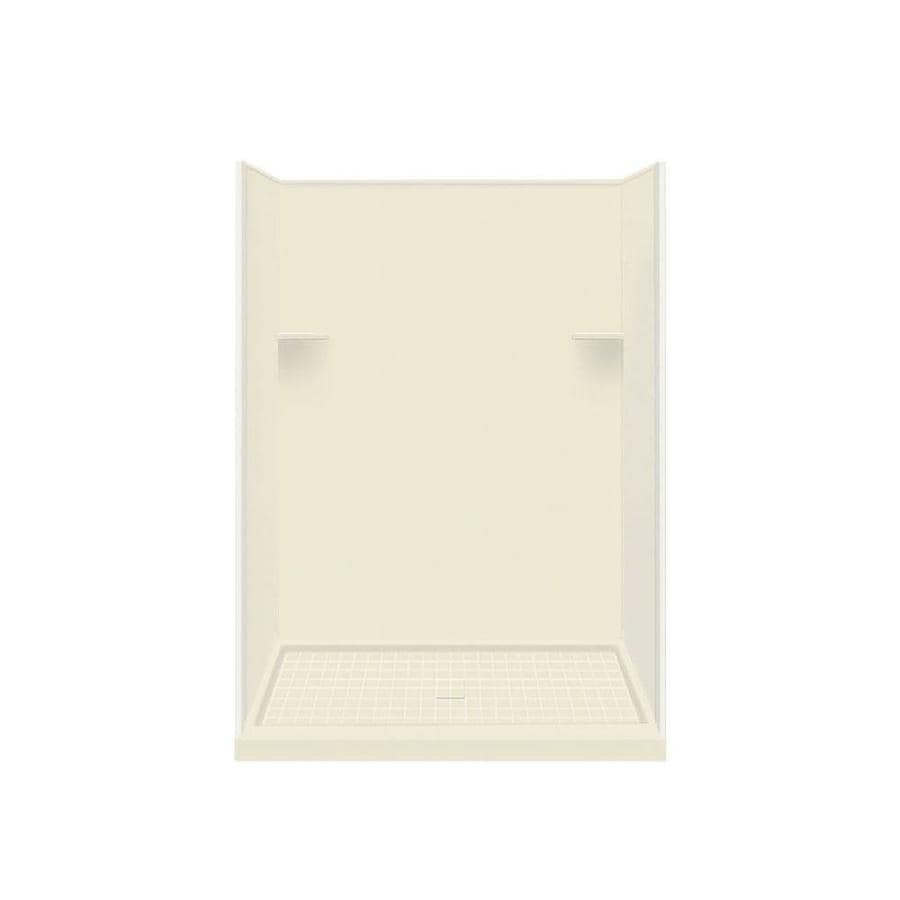 Style Selections Biscuit Solid Surface Wall and Floor 4-Piece Alcove Shower Kit (Common: 36-in x 60-in; Actual: 75-in x 36-in x 60-in)