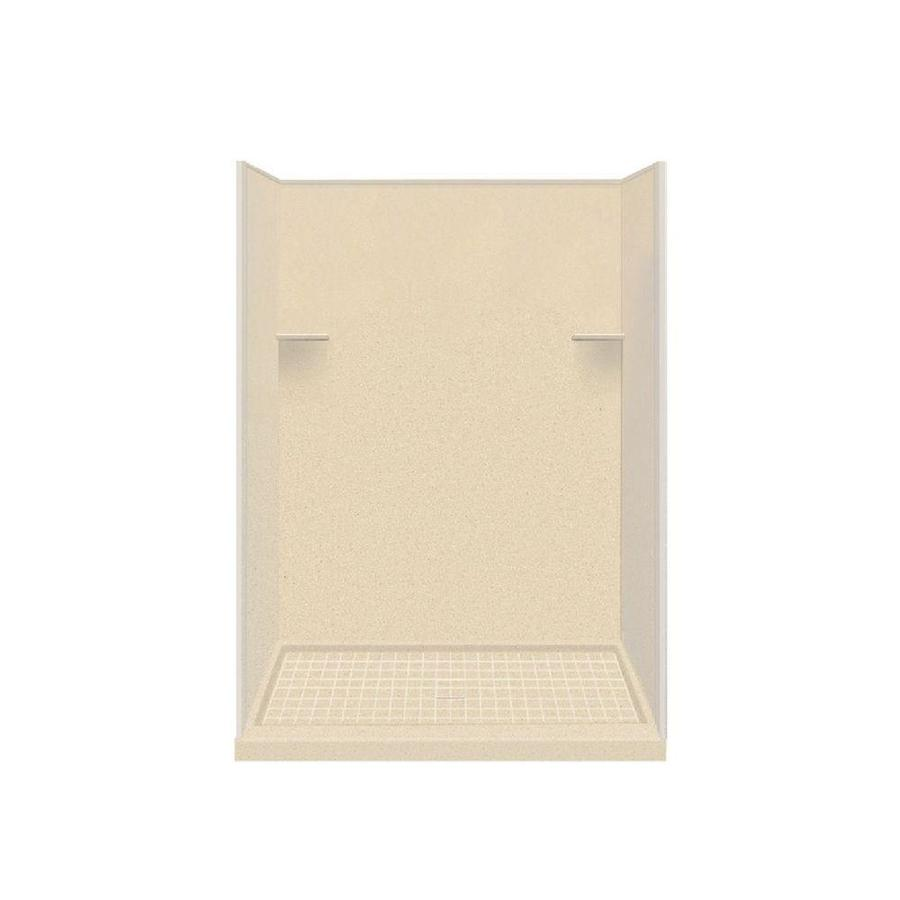Style Selections Sea Shore Solid Surface Wall and Floor 4-Piece Alcove Shower Kit (Common: 36-in x 60-in; Actual: 75-in x 36-in x 60-in)