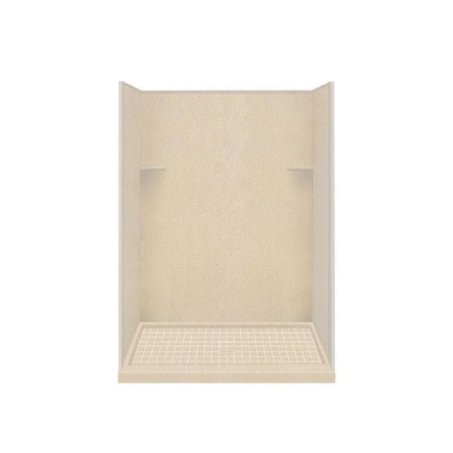 Style Selections Matrix Khaki Solid Surface Wall and Floor 4-Piece Alcove Shower Kit (Common: 36-in x 60-in; Actual: 75-in x 36-in x 60-in)