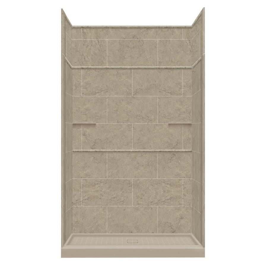 Style Selections Sand Mountain Solid Surface Wall and Floor 5-Piece Alcove Shower Kit (Common: 36-in x 60-in; Actual: 99-in x 36-in x 60-in)