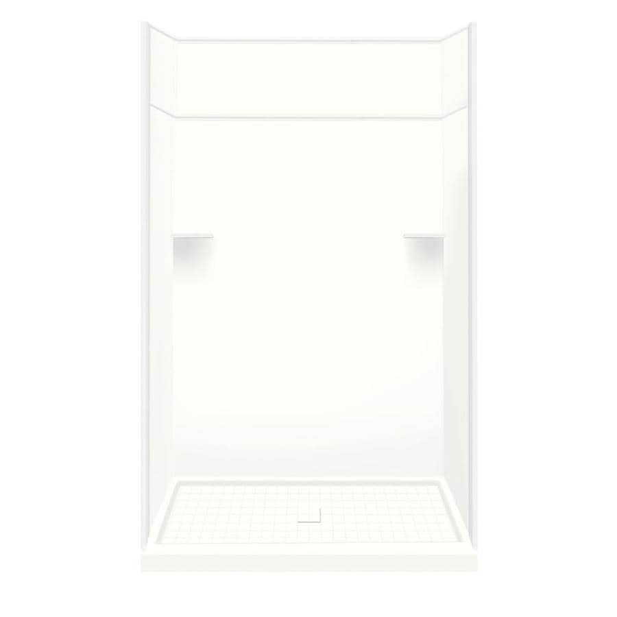 Style Selections White Solid Surface Wall and Floor 5-Piece Alcove Shower Kit (Common: 36-in x 60-in; Actual: 99-in x 36-in x 60-in)