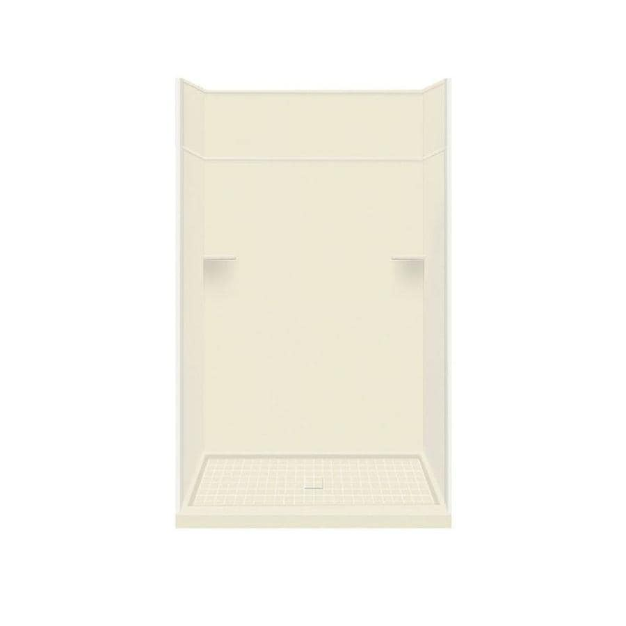 Style Selections Biscuit Solid Surface Wall and Floor 5-Piece Alcove Shower Kit (Common: 36-in x 60-in; Actual: 99-in x 36-in x 60-in)
