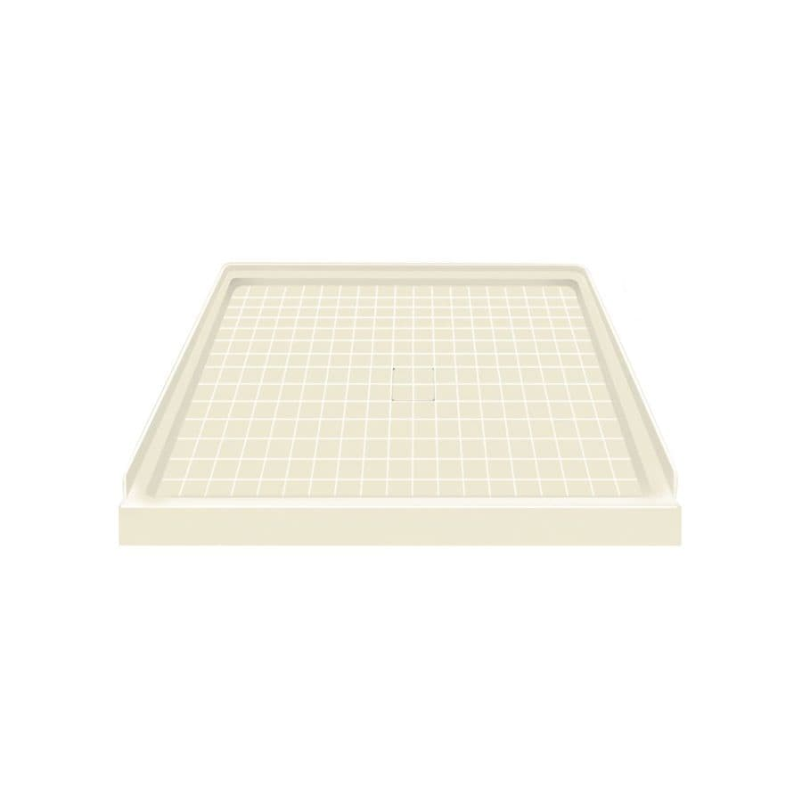 Style Selections Biscuit Solid Surface Shower Base (Common: 36-in W x 36-in L; Actual: 36-in W x 36-in L)