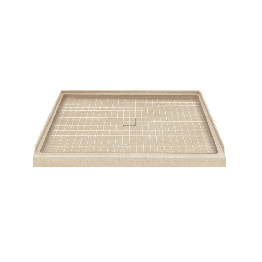 Style Selections Matrix Khaki Solid Surface Shower Base (Common: 34-in W x 48-in L; Actual: 34-in W x 48-in L)