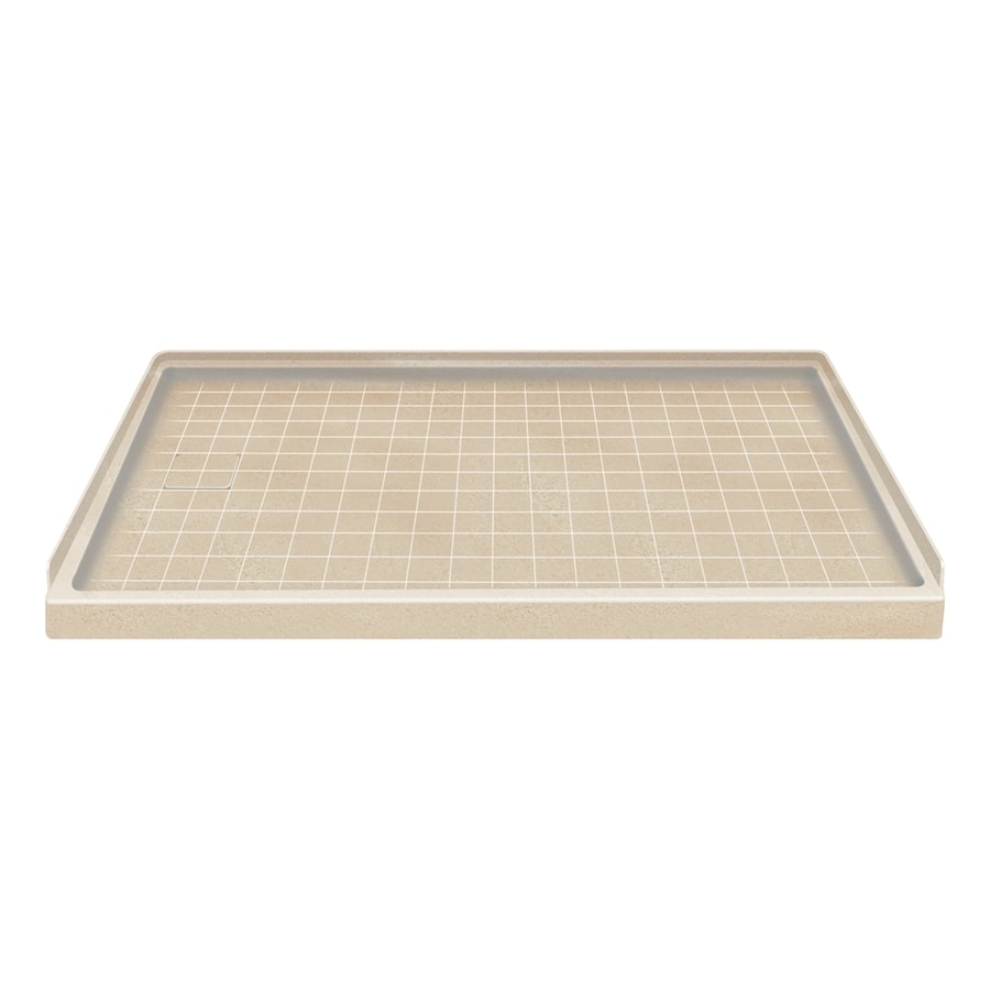Style Selections Matrix Khaki Solid Surface Shower Base (Common: 30-in W x 60-in L; Actual: 30-in W x 60-in L)