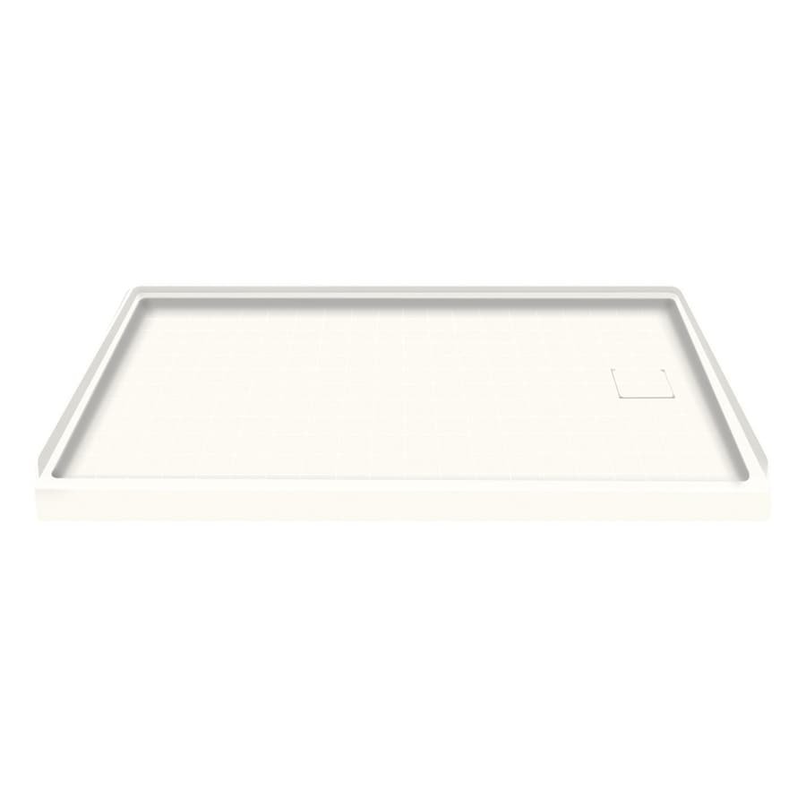 Style Selections White Solid Surface Shower Base (Common: 30-in W x 60-in L; Actual: 30-in W x 60-in L) with Right Drain