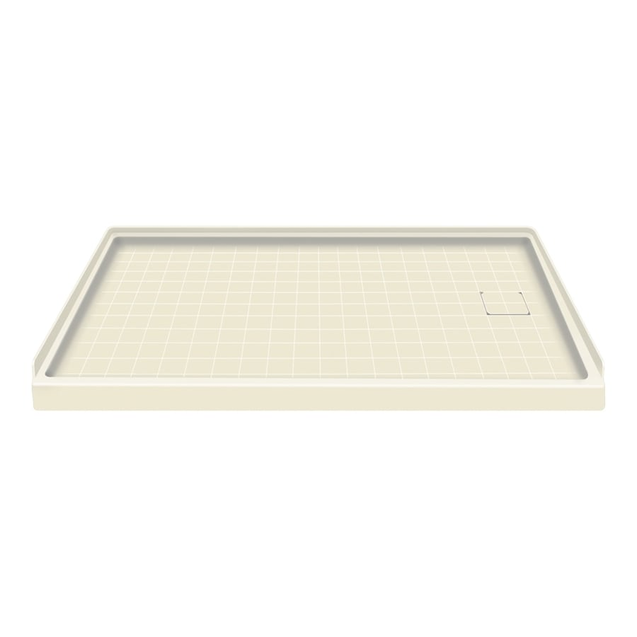 Style Selections Biscuit Solid Surface Shower Base (Common: 30-in W x 60-in L; Actual: 30-in W x 60-in L)