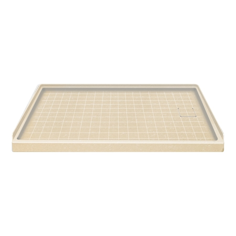 Style Selections Sea Shore Solid Surface Shower Base (Common: 30-in W x 60-in L; Actual: 30-in W x 60-in L)