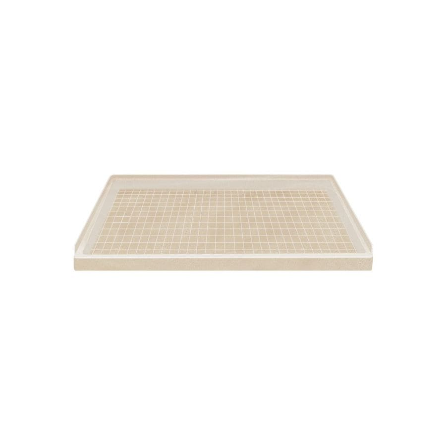 Style Selections Matrix Khaki Solid Surface Shower Base (Common: 32-in W x 60-in L; Actual: 32-in W x 60-in L)