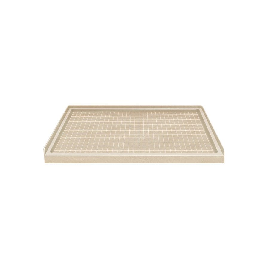 Style Selections Matrix Khaki Solid Surface Shower Base (Common: 36-in W x 60-in L; Actual: 36-in W x 60-in L)