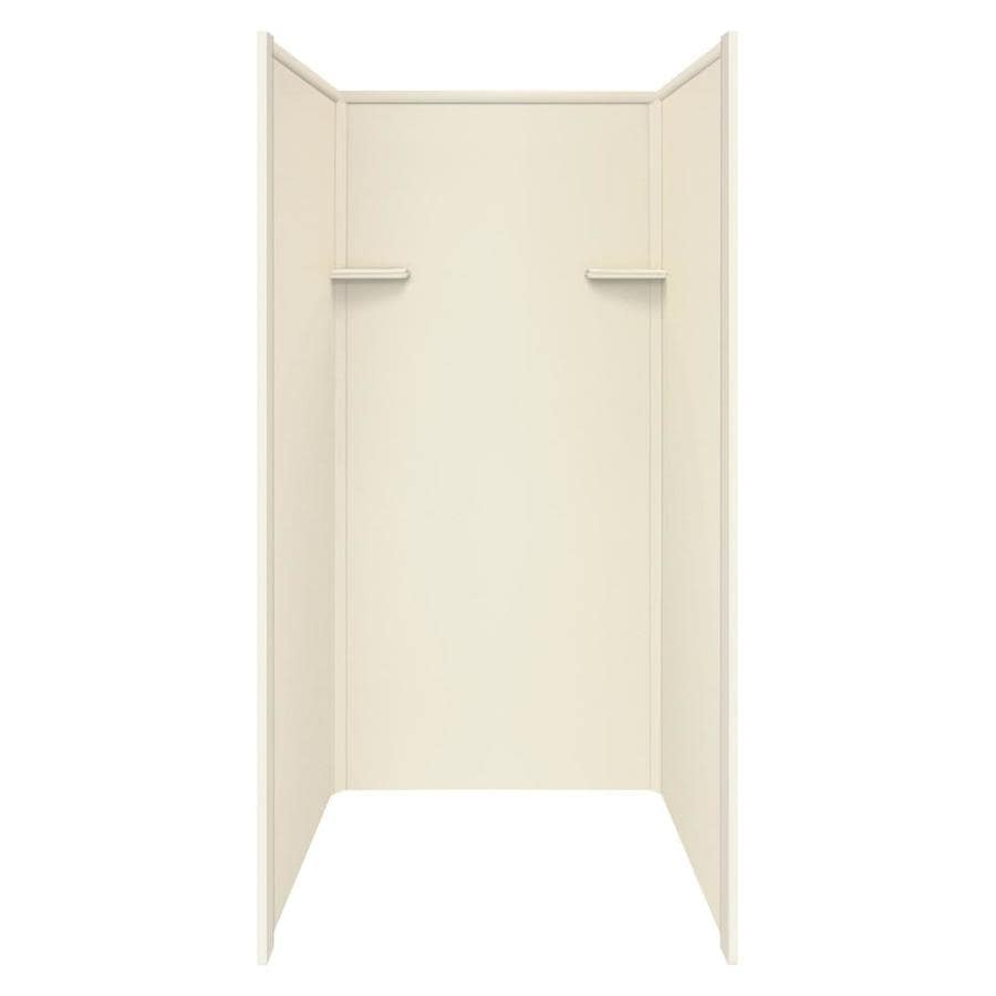 Style Selections Biscuit Shower Wall Surround Side And Back Wall Kit (Common: 36-in x 36-in; Actual: 72-in x 36-in x 36-in)