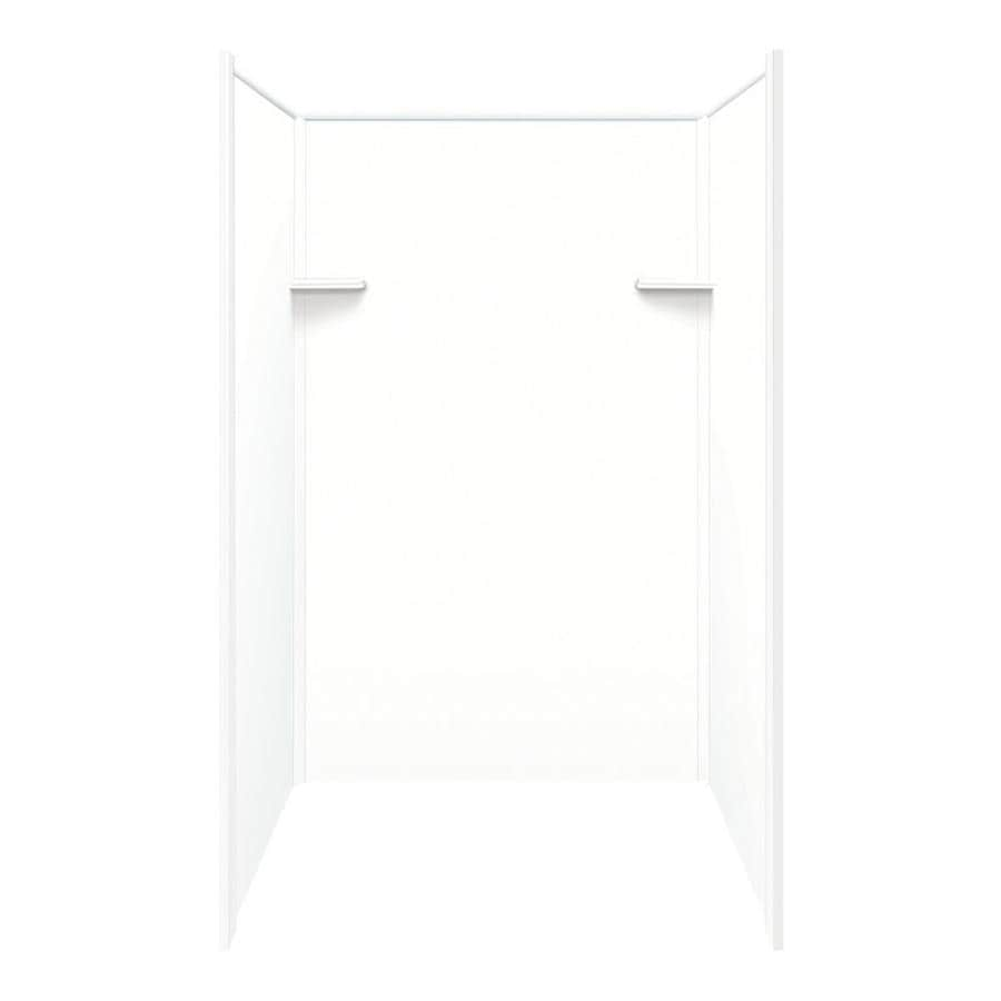 Style Selections White Shower Wall Surround Side and Back Panels (Common: 36-in x 48-in; Actual: 72-in x 36-in x 48-in)