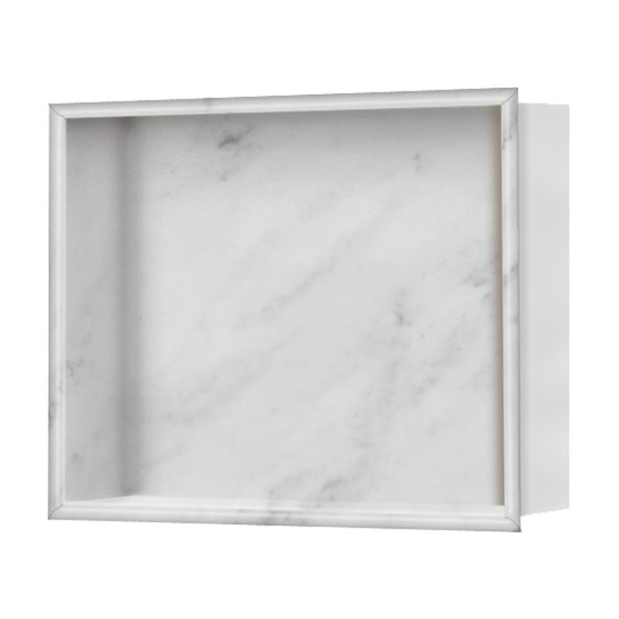 Shop Style Selections White Carrara Shower Wall Shelf At Lowescom - Lowes bathroom wall shelves