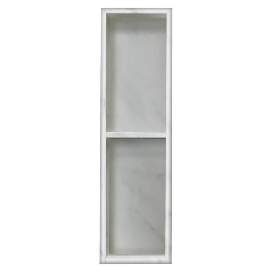 Shop Style Selections White Carrara Shower Wall Shelf at Lowes.com