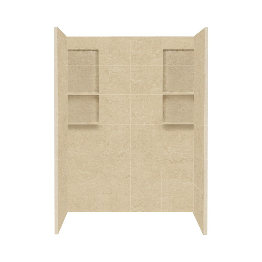 Style Selections Almond Sky Solid Surface Shower Wall Surround Side And Back Panels Common